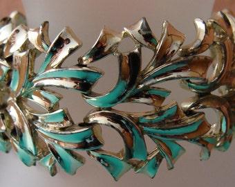 Vintage Coro wide silver tone bracelet
