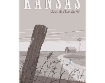 Kansas Wizard of Oz Travel Ad Wall Decal #44829
