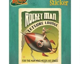 Rocket Man Leisure Lounge Vinyl Sticker #48012