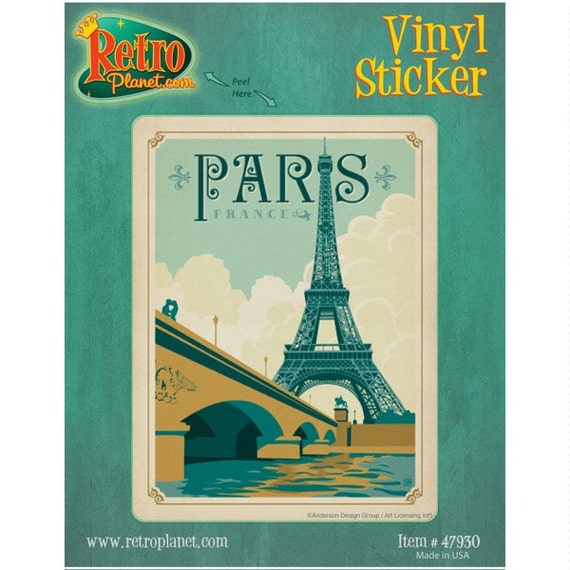 paris france la tour eiffel vinyl sticker 47930. Black Bedroom Furniture Sets. Home Design Ideas