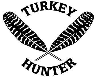 Turkey Hunting Vinyl Sticker - Turkey Hunter Decal - Turkey Feathers