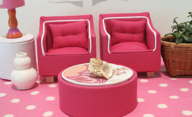 Rose Pink Barbie Coffee Table