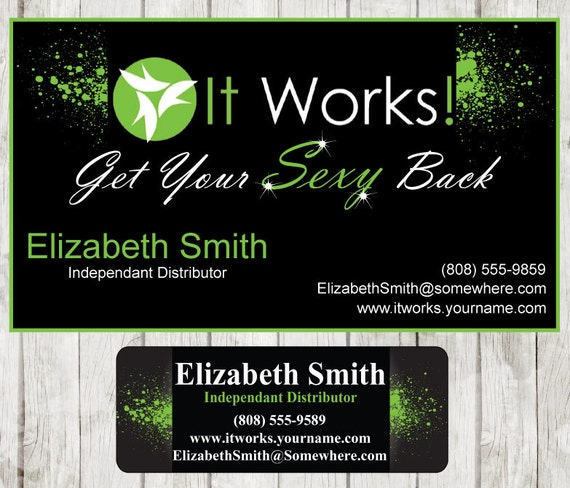 Items Similar To It Works Business Card Amp Catalog Sticker