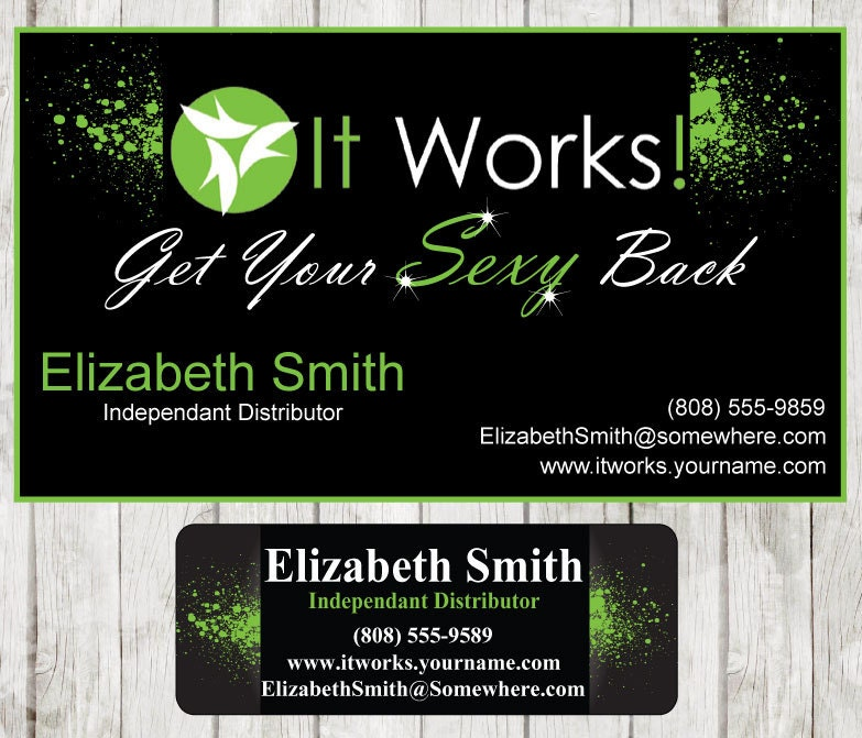It Works Business Card & Catalog sticker by DigiDoodler on