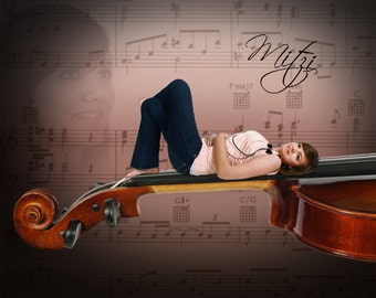 Violin Neck For Posing Digital Photography Background Backdrop Photoshop PSD File #26