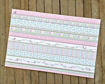 Baby Girl Shower Paper Placemats - Package of 8