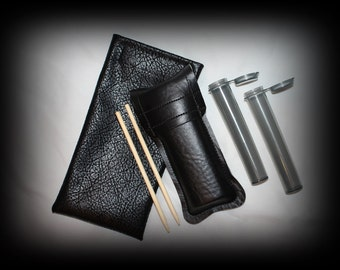 PAX 1 - Pax By Ploom Vaporizer Protective Carrying Case + (2) Bamboo Pax Stir Sticks + (2) Air Tight Storage Tubes