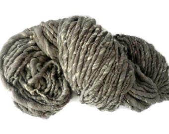 BULK BUY 0.5Kg, 1Kg Handspun yarn, super bulky hand spun yarn, super chunky yarn, wool yarn, bulky yarn, grey yarn, British wool yarn