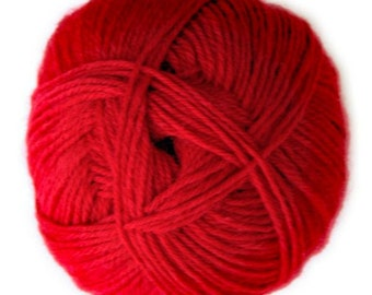 Crimson Knitca Sock Yarn, Superwash Merino Sock Yarn, Sock Weight Yarn