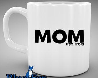 Personlized Coffee Mug,Mom established in  ceramic Coffee Cup MUG-021