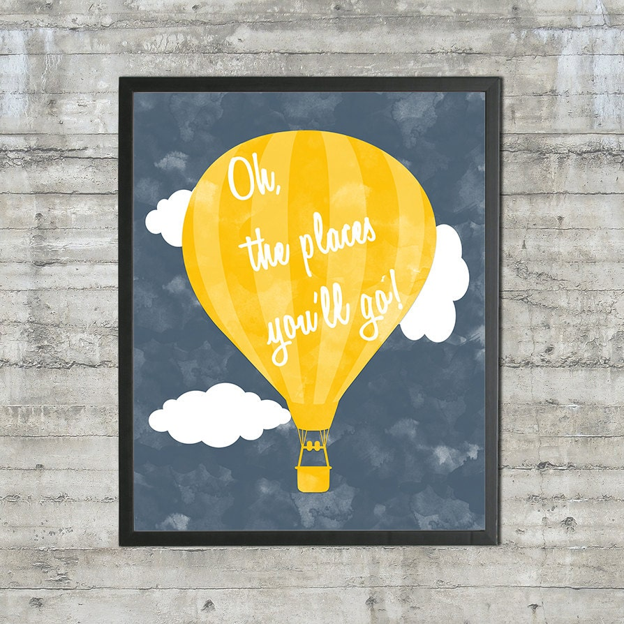 Oh The Places You\'ll Go 16x20 Printable Poster Nursery