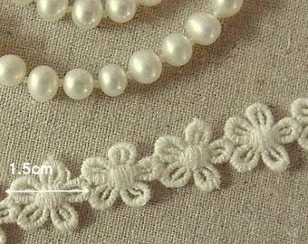 3 yards Vintage style Cotton Crochet Lace Trim #007