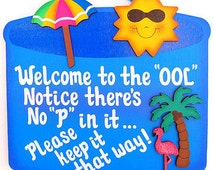 Popular Items For Funny Pool Signs On Etsy