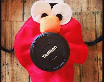 Elmo Shutter Buddy!  Elmo Shutter Cover -Camera lens photo prop with squeaker