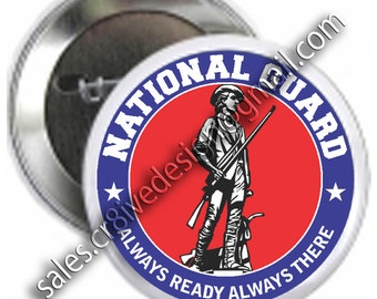 National Guard  2.25 inch  button