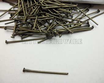 400 pcs 22mm length T word needle for jewelry making (antique brass finished) wa0334