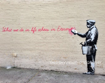 Banksy Graffiti, New York, Original Photograph 8x10
