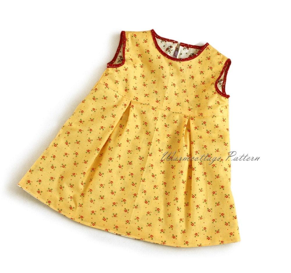 Girl dress sewing pattern, zipper dress,toddler dress ...
