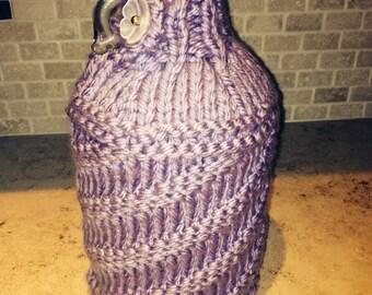 Designer Light purple growler Knitted Cozy