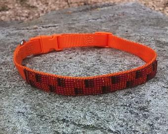 Lulu's Squares & Rectangles - Beaded Dog Collar