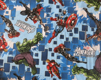 "1/2 yard of 100% cotton ""Marvel Avengers"" Fabric"