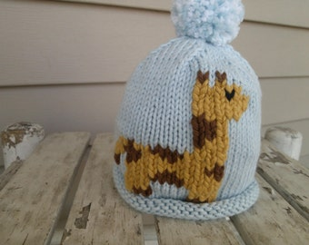 Hand knitted Giraffe Hat