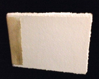 """Hand-Bound, Blank Watercolor Paper Journal 4""""x 6"""" with Pachment Colored Spine"""