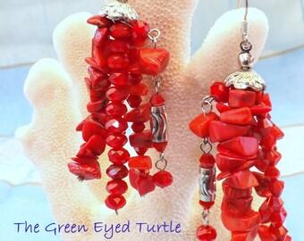 Hot, Hot, Hot Red Earrings