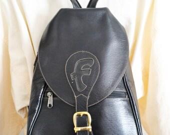 Black Backpack, Faux leather,Shoulder Bag,back pack