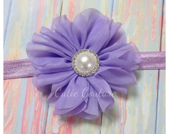 Lavender Headband, Lavender Flower Girl Headband, Lavender Birthday headband, Purple Flower Headband, Lavender baby headband, Lavender Clip