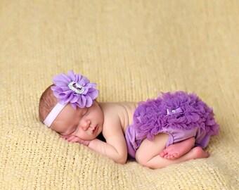 Purple Headband, Lavender Headband, Rhinestone Headband, purple Flower Girl Headband, Purple Birthday Headband, Newborn Headband,Purple Clip