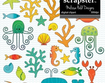 Sealife Digital Clipart