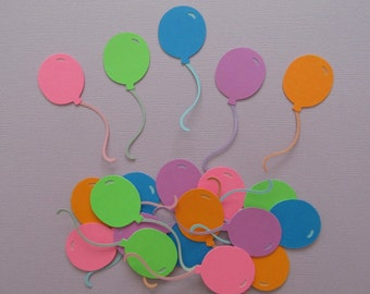 20  Layered Cardstock Balloon Die-cuts in 5 Colours as Shown