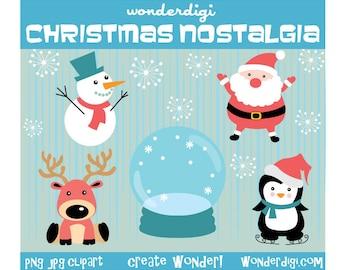 Christmas Clipart -  Holiday Clip art - Christmas Characters Clip art