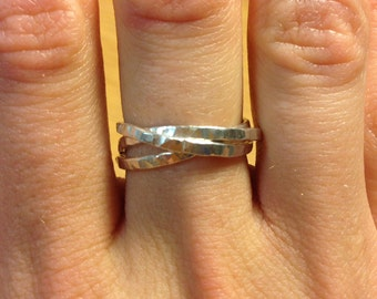Sterling Silver Puzzle Ring **For Bente**