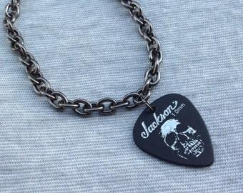 Sick Skull Guitar Pick Bracelet