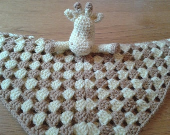 Giraffe Baby Security Blanket Lovey Comforter Blankie Lovie Crochet PATTERN