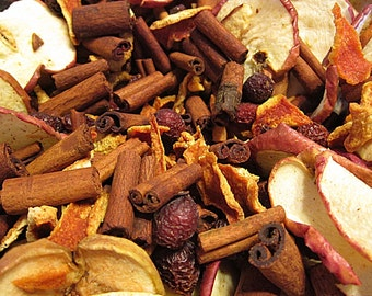 Potpourri APPLE CINNAMON Handcrafted Botanical Potpourri Pint