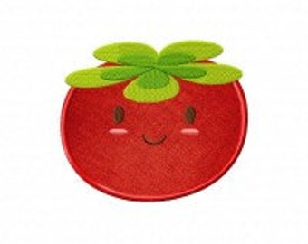 Happy Tomato Includes Both Applique and Stitched