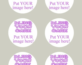 Design Your Own Personalized Edible Icing Single Image 3-inch Cake, Cookie and Cupcake Decor Toppers - DYO3S