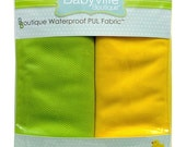 "Babyville Wicking Fabric 30""X27"" Cuts 2/Pkg Green/Yellow"