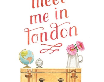 Meet Me in London - 8 x 10 Vertical Print