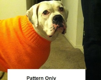 Dog sweater for Fur Kids Barrel Chested and Giant Sizes PATTERN