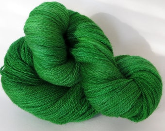 "100% Merino Wool, Lace Weight, Hand Dyed, ""Emerald"""