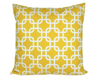 Cushion cover 50 x 50 cm Premier prints gotcha with yellow and white zipper