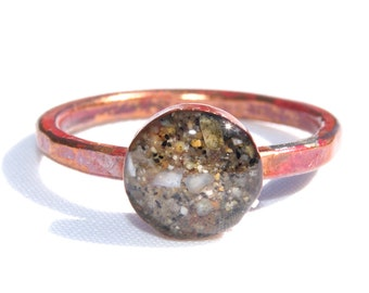 Sand Jewelry Copper Sand Ring, Sand Jewelry Capturing Your Memories.