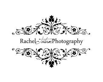 "Retiring/Clearance! Custom Premade Photography Logo and Watermark ""Victorian Flowers"" - Fully Customizable Font and Color"