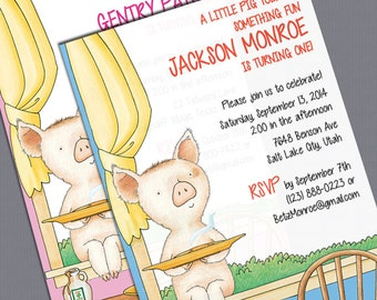 "Print-it-Yourself ""If You Give a Pig a Pancake"" Invitations"