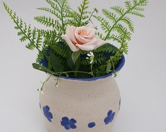Rustic Blue Flower Vase Sale Priced
