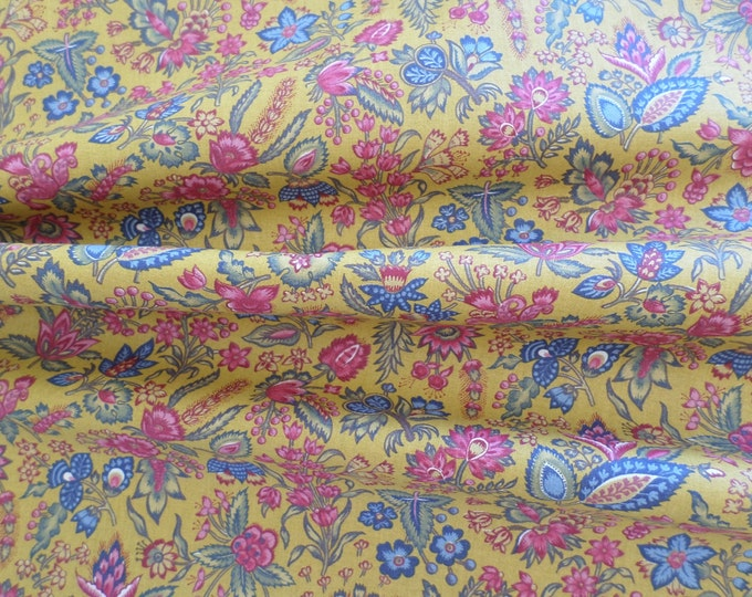 Dutch Chintz - Les Petits Bouquets YELLOW 1/2 yd